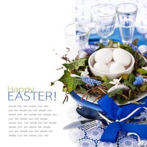 Easter cards in spring tonality