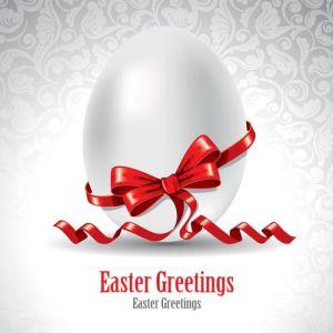 Easter cartoon vector egg postcard