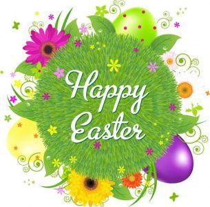 Easter cartoon creative postcard