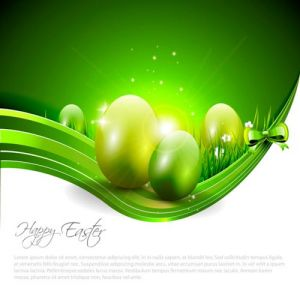 Easter eggs vector banner