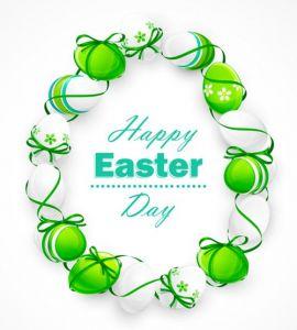 Easter eggs vector banner