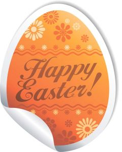 Orange Easter eggs vector sticker