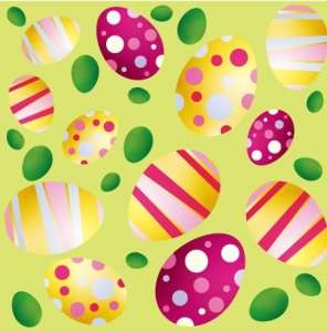 Easter eggs cliparts