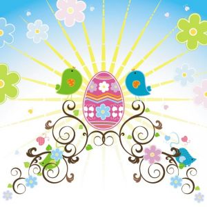 Easter vector template