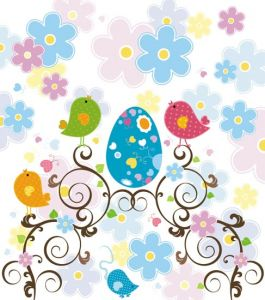 Easter vector pattern