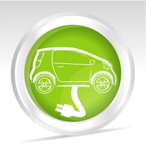 Eco driving green icons vector