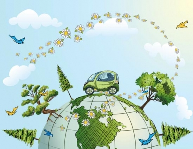Eco globe vector