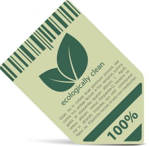 Ecologically clean green vector tags