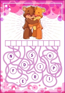 Educational puzzle game with cute bears.