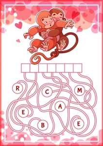 Educational puzzle game with cute monkeys.