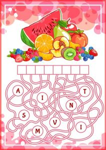 Educational puzzle game with fruits.
