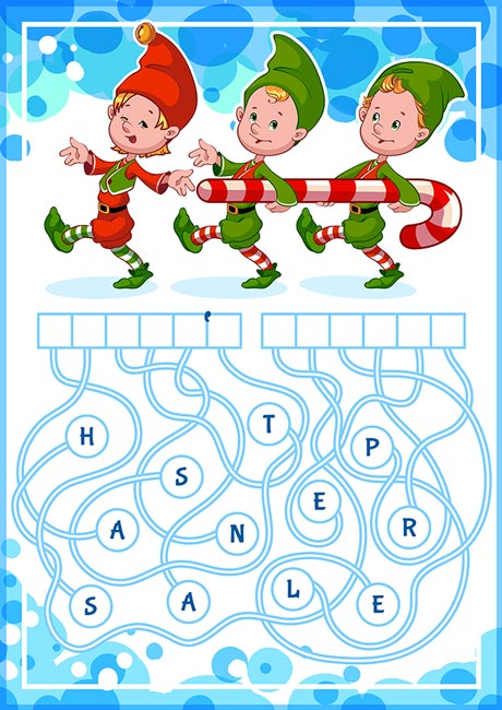 Educational word-puzzles for kids vectors
