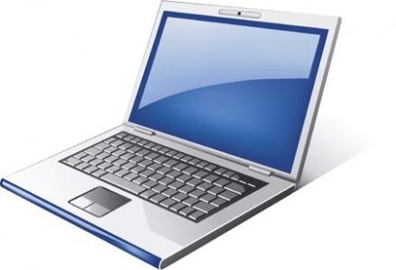 Laptop vector template