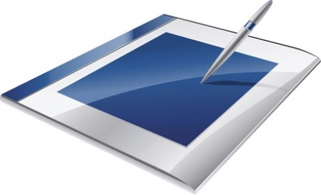 Tablet vector template