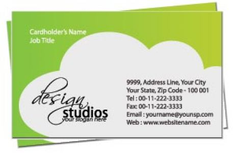 Elegant business card front