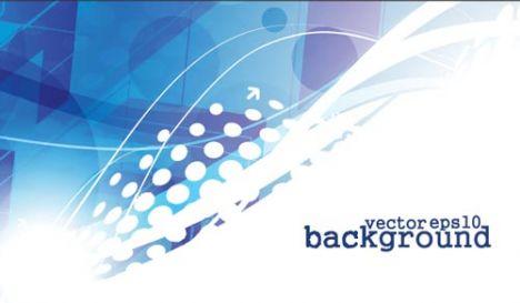 Elegant blue business card back
