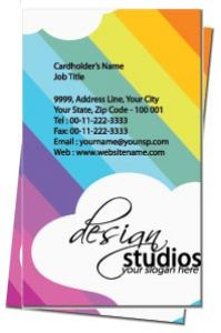 Elegant colored business card front