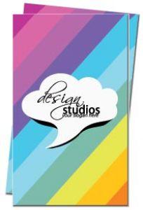 Elegant colored business card back
