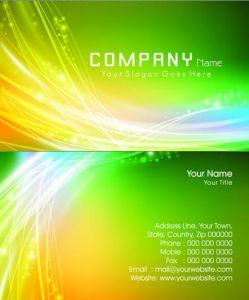 Elegant business cards vectors