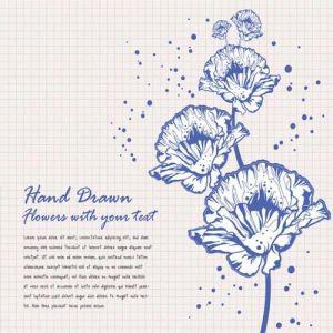 Elegant floral shapes vector backgrounds