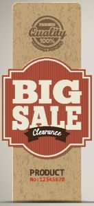Big sale clearence vector