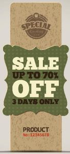 sale up to 70% off vector