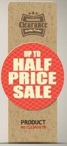 End of season sale price tags