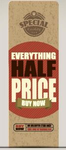 Everything half price vector