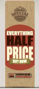 Everything half price vector