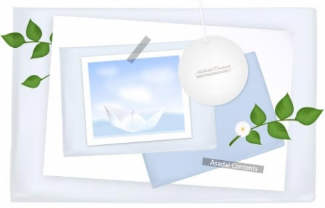 Envelope paper card template