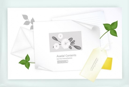 Envelope vector template