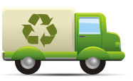 Environmental green vector icon