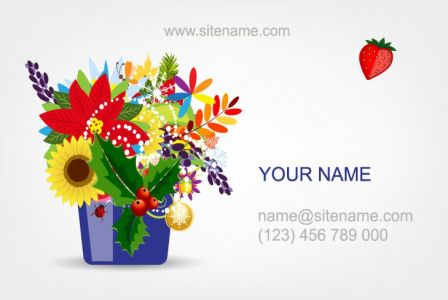 Eps cards with colored spring flowers vector