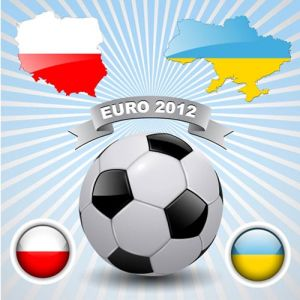 Euro 2012 football vector card
