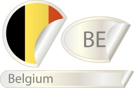 Belgium flag label vector