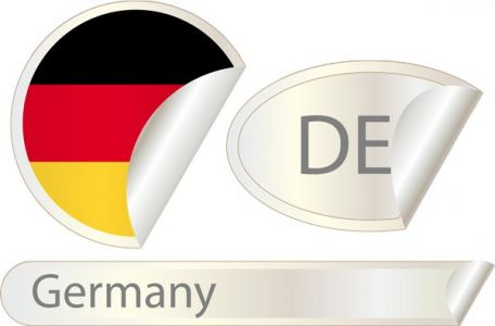 Germany flag label vector