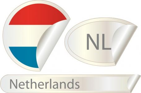 Netherlands flag label vector