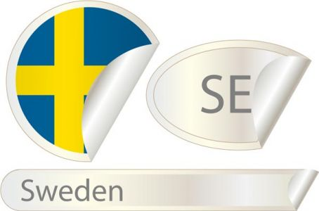 Sweden flag label vector