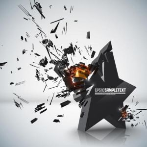 Exploding background vector design
