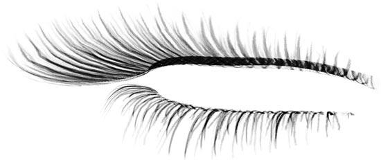 how to draw eyelashes photoshop