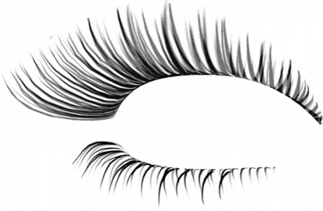 Eyelash photoshop model