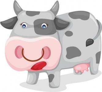Cow vector cartoon