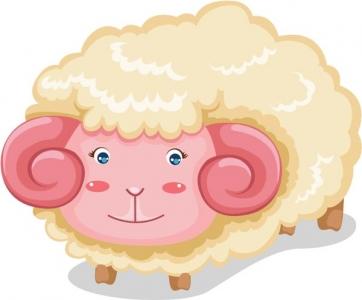 Sheep vector cartoon