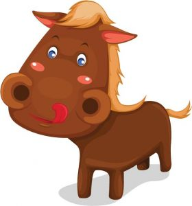 Horse vector cartoon