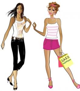 Fashion girl vector