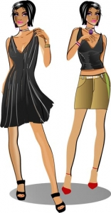 Fashion girl design