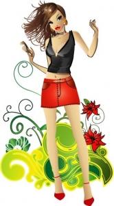 Fashion girl design