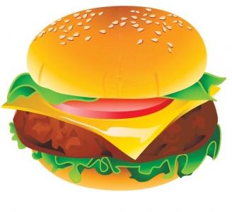Fast food vector big hamburger