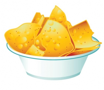 Fast food vector potato chips