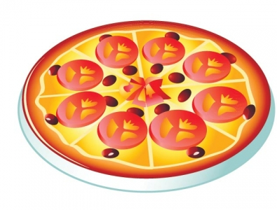 Fast food vector pizza